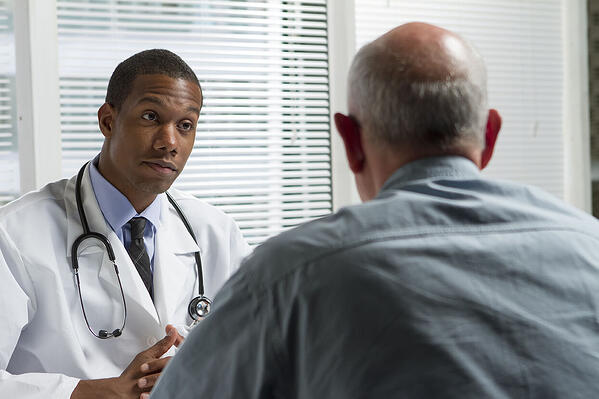 Man visiting his doctor