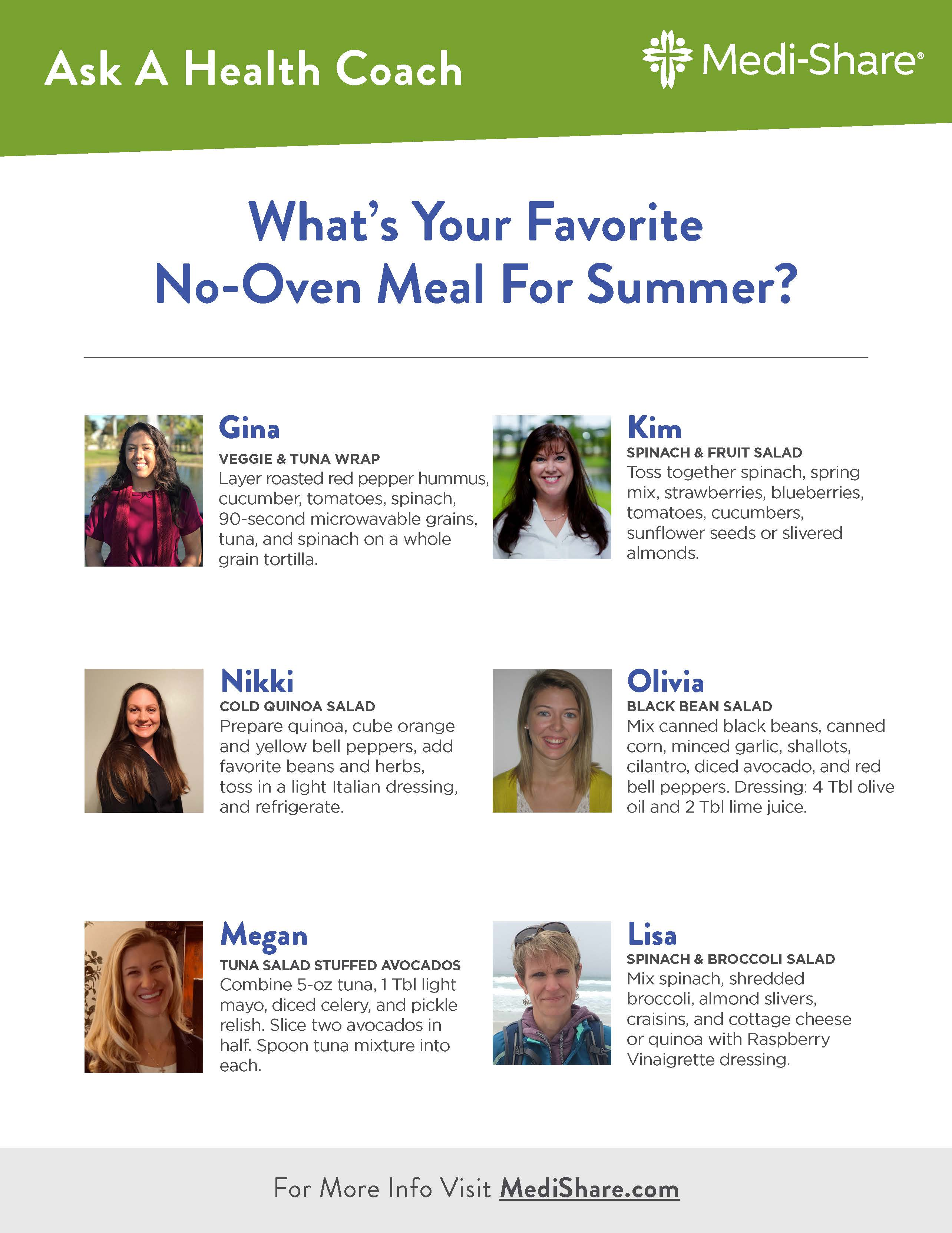 flyer - Health Coaches on No Oven Meals