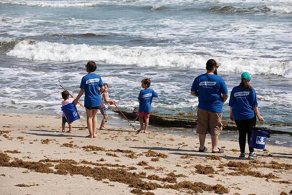 Beach clean-up with Keep Brevard Beautiful