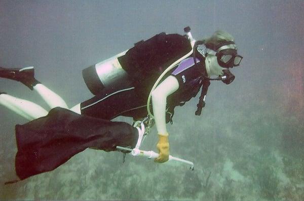 Rebecca Barrack scuba diving in South Florida