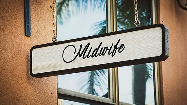 Midwife business sign