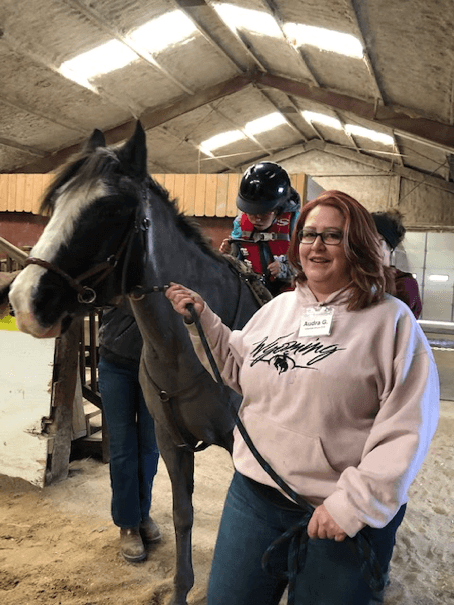 Audra Garrison with horse