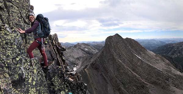 Erin Englert mountain climbing