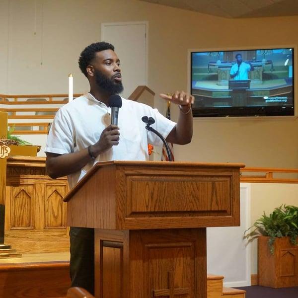 Kevin Daniels preaching