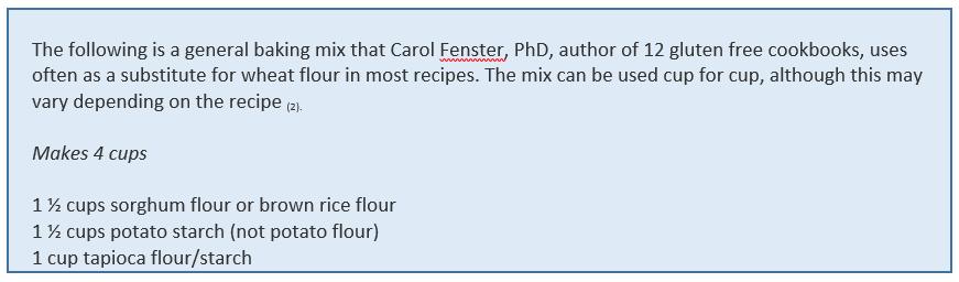 Substitute recipe
