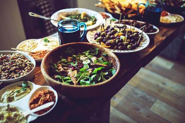 Healthy Thanksgiving spread