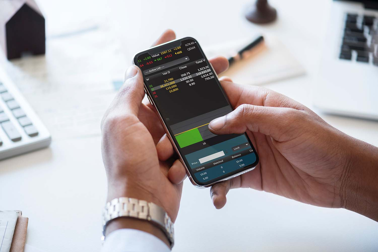 Personal investing on a mobile device