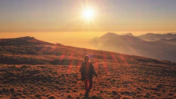 Walking across the wilderness