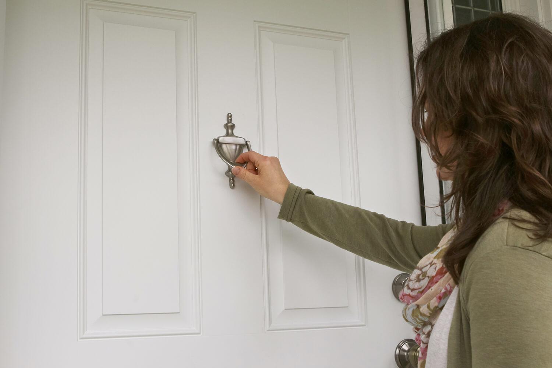 Knocking on a neighbor's door