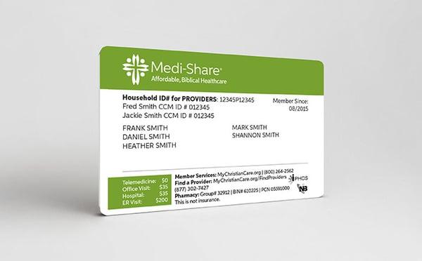 Medi-Share member card