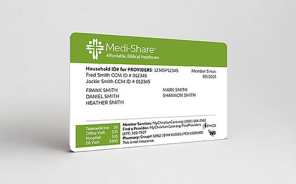 Medi-Share member card