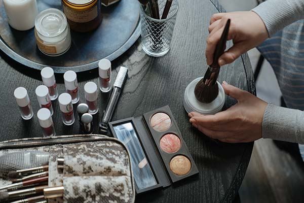 Beauty products on a table