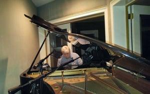 Peter at the piano
