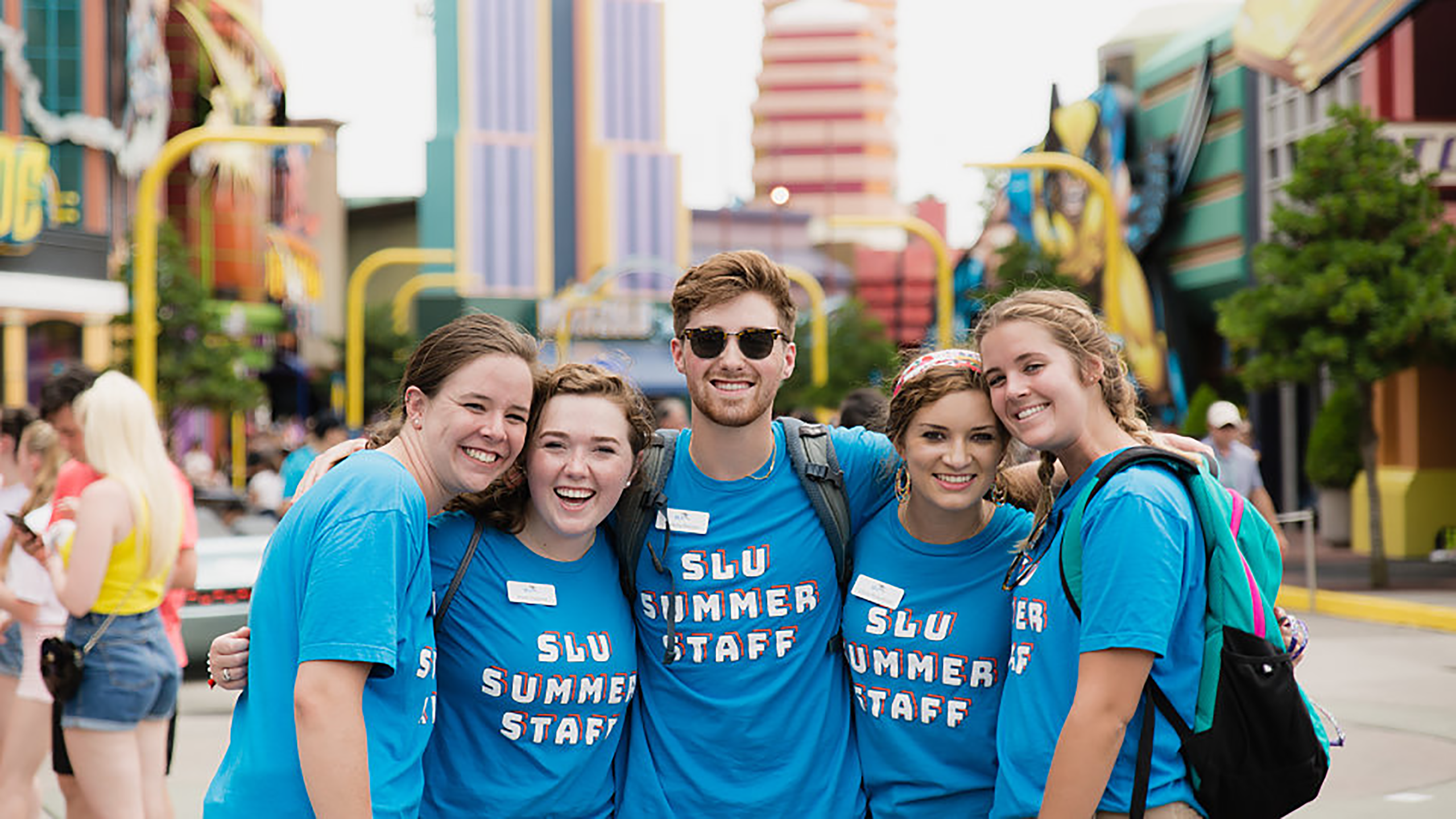 A group of SLU students