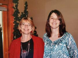 Traci Rhoades with mom