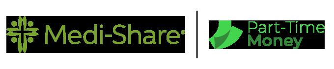 Medi-Share and Part-Time Money Partnership Logo