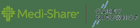 Medi-Share and Carey Nieuwhof co-branded logo