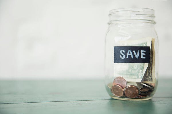 Savings in a jar