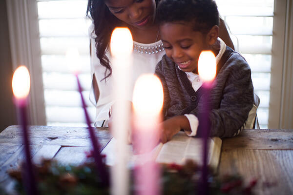 Reading the bible together during Advent