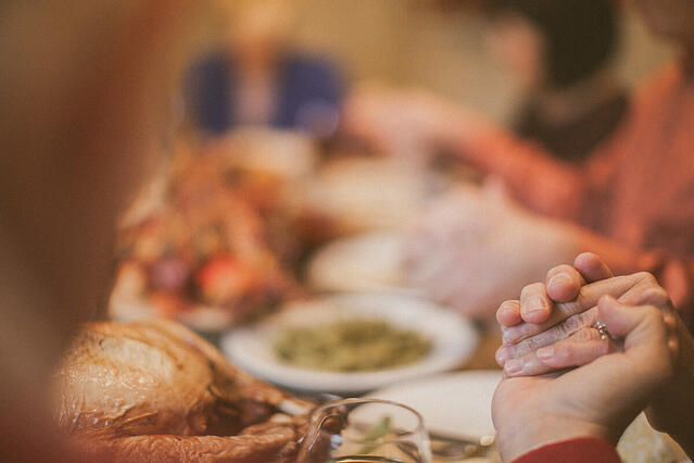 Giving thanks at the dinner table