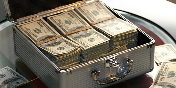 small box of cash