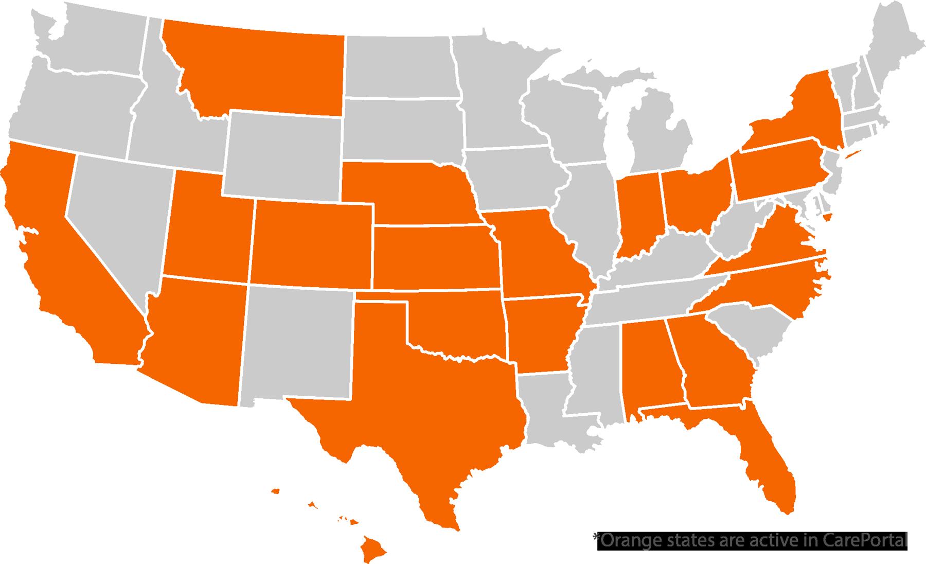 Careportal's Impact Map